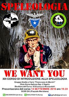 ICONA XXI corso speleo 2016 GGFAQ